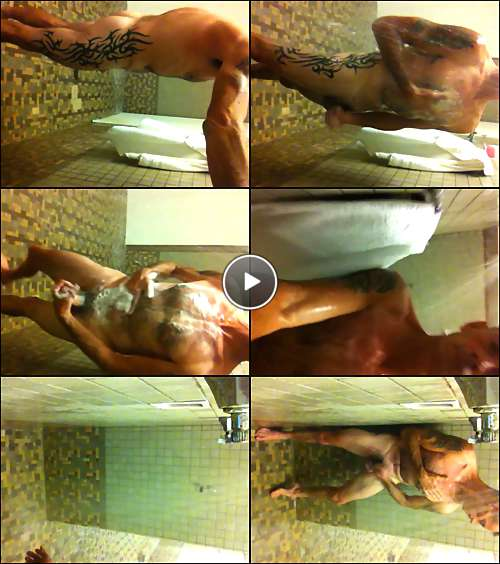 locker room men shower video