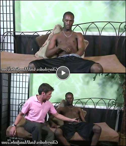 hand job big black cock video
